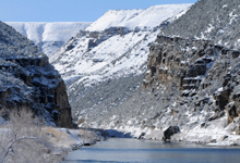 view the Fresh Snow: Wind River Canyon, Big Horn River, Twin Buttes collection