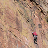 Climbing Partners Scale Vertical Walls, Eldorado Canyon; 401106B_001