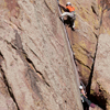 Climbing Partners work to Scale Vertical Wall, 401106B_029