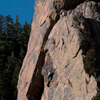 Climbing Partners Scale Vertical Wall Eldorado Canyon, 401106B_087