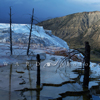 Mammoth Hot Springs, Storm and Mount Everts, 380821_013