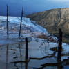 Mammoth Hot Springs, Storm and Mount Everts, 380821_0013
