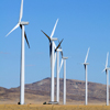 Dunlap Wind Farm Turbines, Battle Mtn. Near Med Bow, 401005_094_