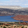 Various Geological Strata around Alcova Reservoir, 401005_211