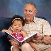 Ellbogen; Grandpa Reading a Story to Little Girl_61