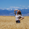 One Female Model Posing in Wheat Field