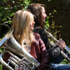 Aurora & Caitlin With their Band Instruments, Profile, 014