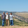 Three of Us Above Canyon of a Tributary to the Bighorn River.  68