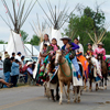 Very Young Girls, Most in Elk Tooth Dresses, Parade on Horseback:1_159