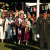 A Veteran in Color Guard Leads Women Dancers In Grand Entry: 1_203
