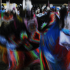 Women Fancy Shawl Dancers Blur Colors As They Dance: 02_048