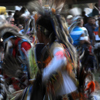 Male Dancer Blurs as he Dances During the Pow Wow Grand Entry: 02_063