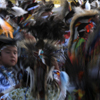 Men Dancers FIll the Pow wow Arena During Grand Entry: 02_149
