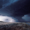 Big Storm in Wyoming Prairie, 1983