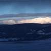 Snowy Mountains in Snow & Sunlight, Winter Solstice Eve Sunrise