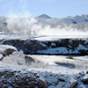 Thermopolis Hot Spring, Foot Bridge, Area Blanketed in Snow; 064_3Pan