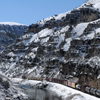 A BNSF Train slowly Makes its Way through the Wind River Canyon: 174