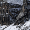 Detail of Deeply Eroded West Wall of the Wind River Canyon; 179_3Pan