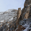 Spire on East Slopes of Wind River Canyon with Dusting of Snow;195_3VP