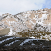 Snow Flocked Twin Buttes at Bates Hole, Central Wyoming; 215-3Pan