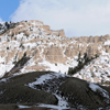 Snow Flocked Twin Buttes at Bates Hole, Central Wyoming; 220-3Pan