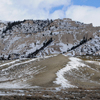 Snow Flocked Twin Buttes at Bates Hole, Central Wyoming; 223-3Pan