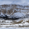 Snow Flocked Twin Buttes at Bates Hole, Central Wyoming; 233_5Pan