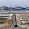 Wyo Highway in the Dunlap Wind Farm n Shirley Basin Wyo; 279